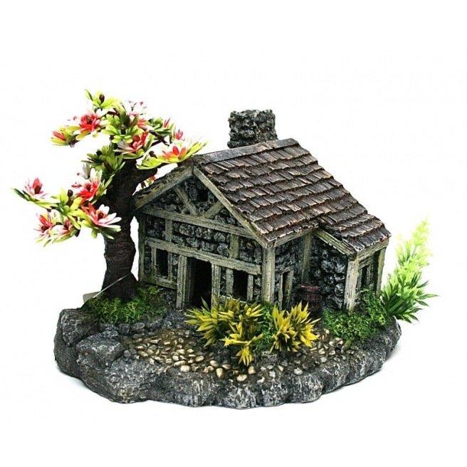 Décor synthétique en résine pour aquarium Cottage bonsai color