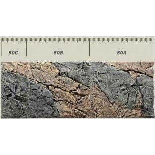 Plaque de décor en 3 D - Back to Nature Slim Basalt Gneiss avec des nuances de gris et de rouge rouille