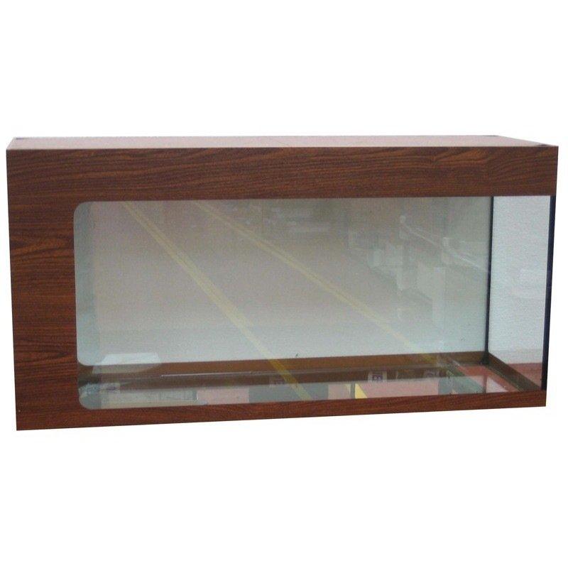Meuble pour aquarium monobloc finition vinyl auto collant for Meuble longueur 110 cm