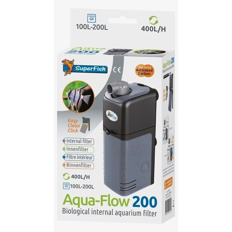 Superfish aqua flow filtre interieur pour aquarium for Filtre interieur aquarium