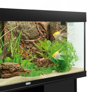 Décor 3D - Juwel Cliff Dark - Plaque de fond, couvre filtre et terrasse