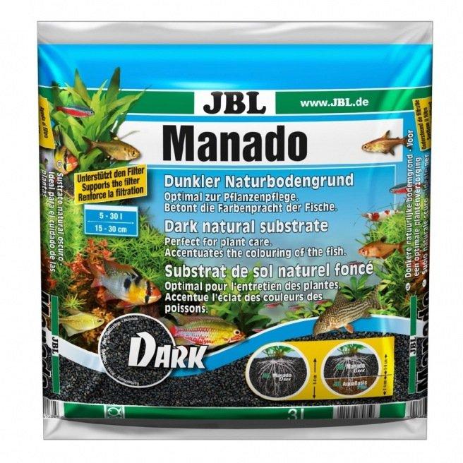 JBL Manado Dark sol de couleur noir pour aquarium