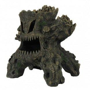 Imitation tronc d'arbre fâché pour décorer l'aquarium